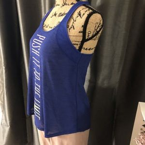 """Aeropostale Tops - """"Push To The Limit"""" Racer Back Graphic Tank"""